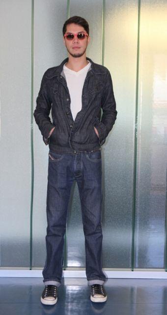 jaqueta e jeans anos 60