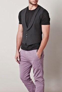 look casual colete masculino