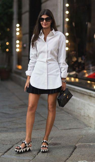 flatform com saia preta