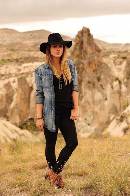 exemplo de look country com jeans