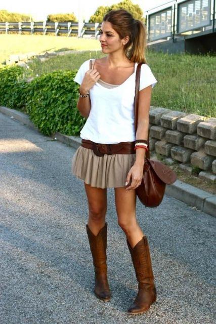 exemplo de look country com botas