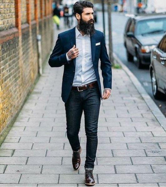 look social com bota masculina