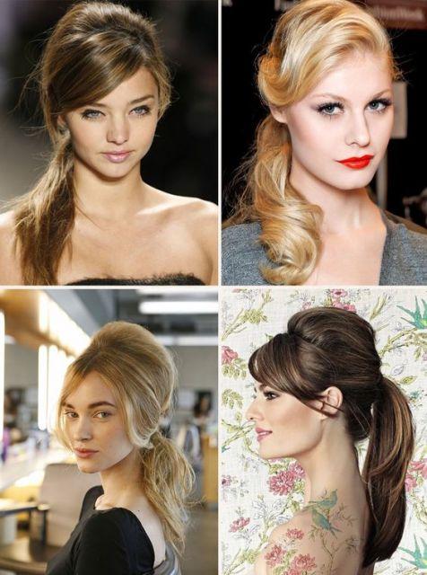 exemplo de looks anos 60 femininos cabelo e maquiagem