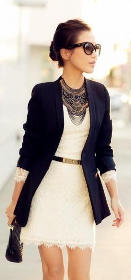 Looks com vestidos com blazer