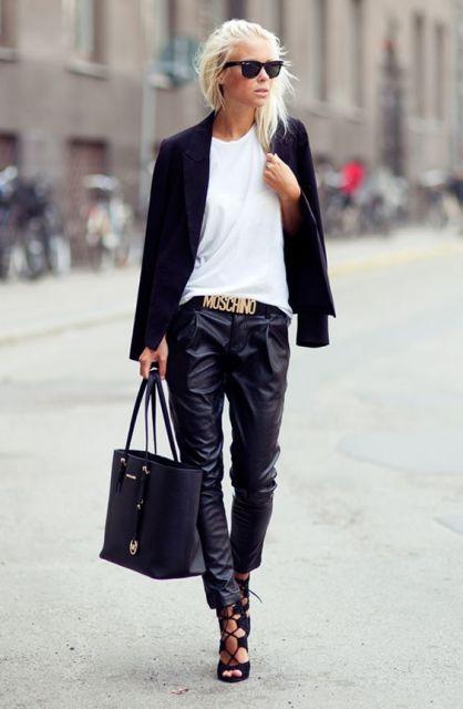 exemplo de looks com blazer clean elegantes