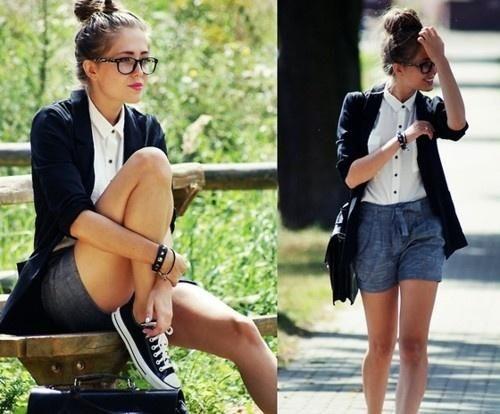 exemplo de looks com blazer despojados