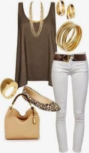 Look estiloso com dourado