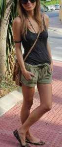 Look com short e regata