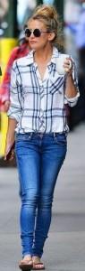 Calça jeans e camisa