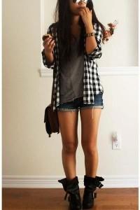 Look casual short + botinha