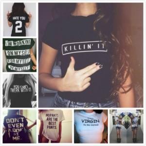 varios modelos de tshirt
