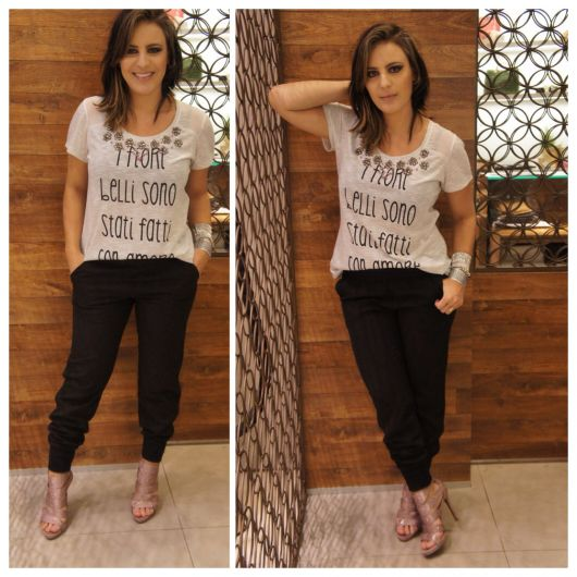 look basico chique para ir ao shopping