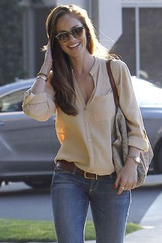roupas para shopping com jeans e blusa social