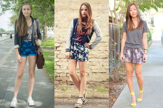 shorts florais para ir ao shopping