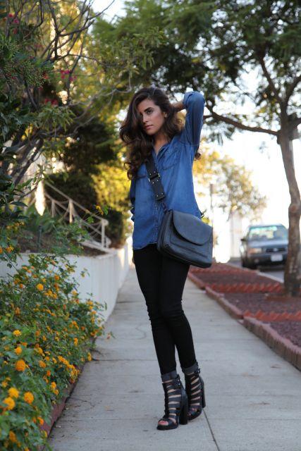 ideias para usar jeans ao ir ao shopping