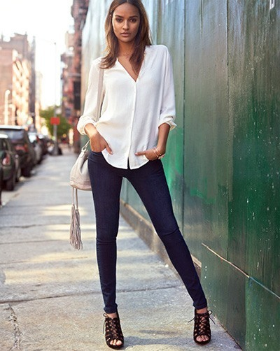 calça skinny jeans em looks para shopping