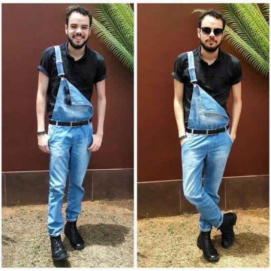 macacão bota e camisa