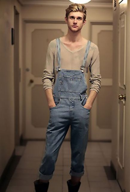 macacão masculino estilo jeans