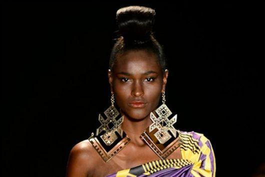 maxi brincos na moda africana