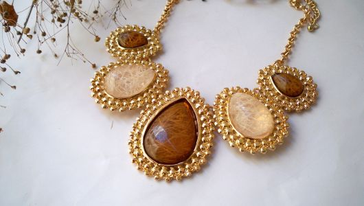 modelos de maxi colar com pedras naturais