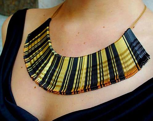 maxi colar moda egipcia cleopatra
