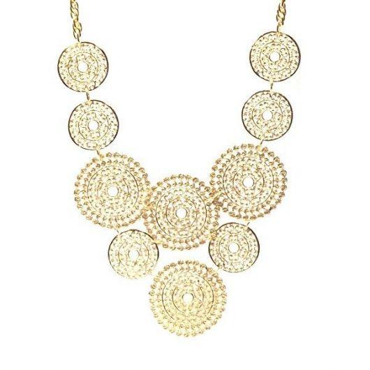 maxi colar dourada mandalas