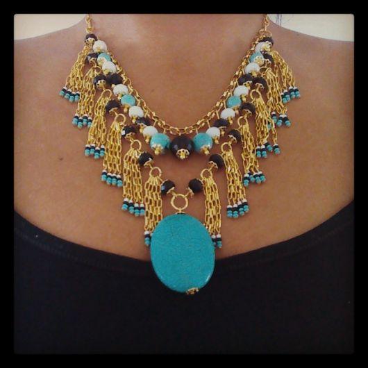maxi colar moda tribal
