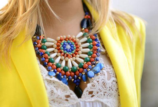 maxi colar modelo tribal