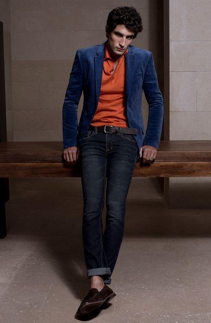 mocassim e calça jeans