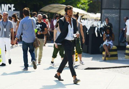 mocassim masculino com calça social