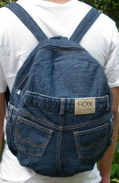 mochila jeans masculina