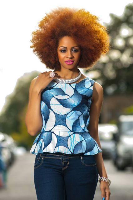blusas da moda africana