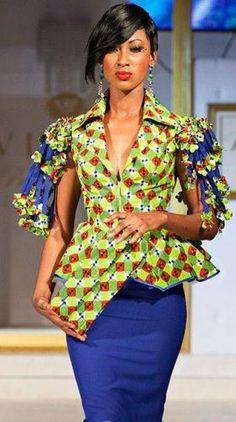 moda africana em look trabalho