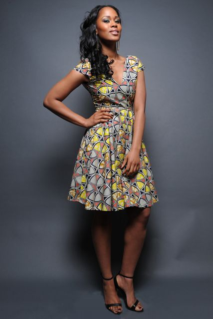 moda africana com vestidos curtos
