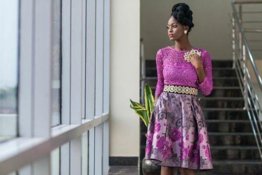 vestido lilas na moda africana