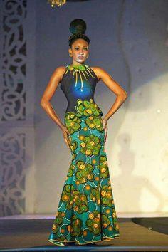 moda africana com longos