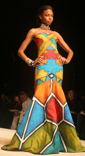 moda africana vestido tomara que caia