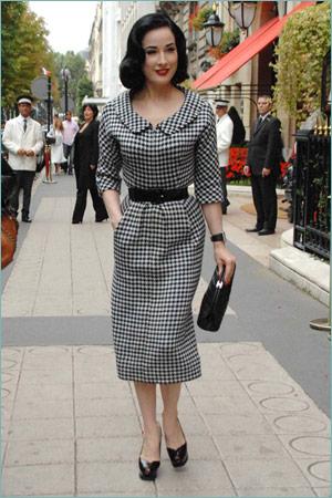 vestido vintage xadrez
