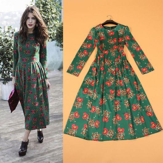 vestido florido vintage