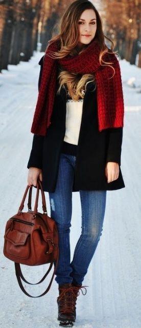 looks para o inverno com echarpe