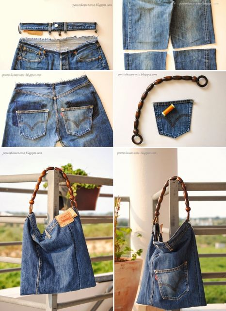 modelo de bolsa jeans