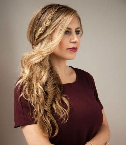 penteados para formatura cabelos longos de maquiagem