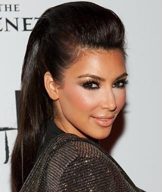 penteado kim kardashian