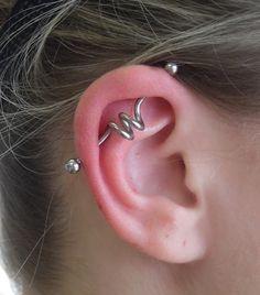 piercing no helix scaffolding espiral