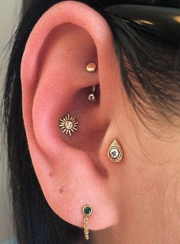 piercing no tragus indiano