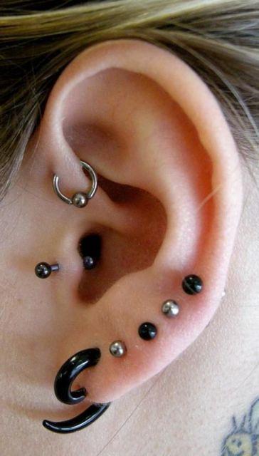piercing no tragus p&b