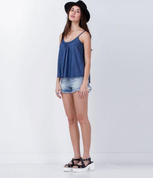 regata jeans com short jeans