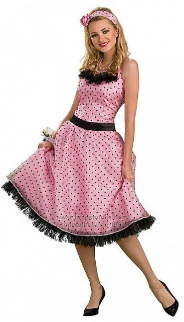 vestido rosa com poá