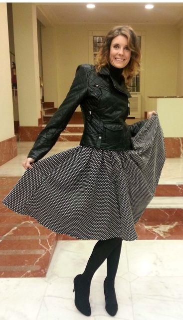 look feminino jaqueta couro