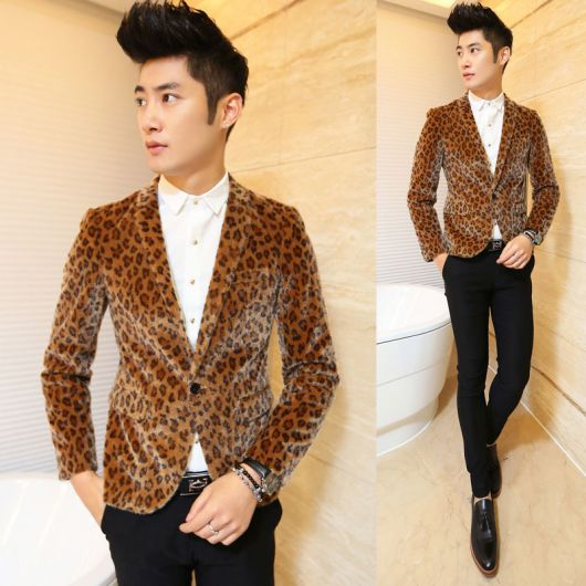 roupas estilosas masculinas estampa animal print